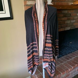 Anthropologie Guinevere Open Front Boho Cardigan S